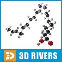 icosanoic acid 3d model